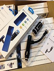 F33 Bluetooth Handsfree FM-передатчик поддерживает A2DP новое автомобильное зарядное устройство