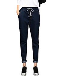 Pantaloni Da donna Jeans Casual / Semplice Cotone / Acrilico Anelastico