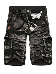 Men's leisure and sports camouflage cargo shorts