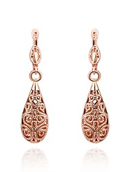 Alloy Earrings Drop Earrings for Women  Hollow Waterdrop Earrings Fashion Jewelry Accessories