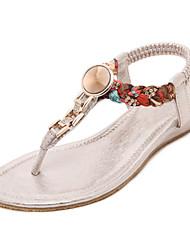 Women's Shoes Flat Heel Slingback / Flip Flops / Slouch Sandals Outdoor / Dress / Casual Black / Pink / Silver / Gold