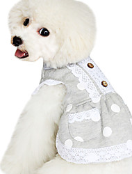 Dog Hoodie / Clothes/Clothing Blue Spring/Fall Polka Dots Fashion