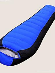 Saco de dormir Tipo Múmia Solteiro (L150 cm x C200 cm) -15℃ Penas de Pato 1500g 215X80 Exterior Mantenha Quente Gazelle Outdoors