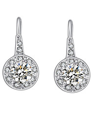 Austria Crystal Drop Earrings for Women Big Zircon Hearts and Arrows Earrings Fashion Jewelry Accessories