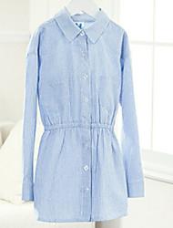 Girl's Multi-color Shirt,Stripes Cotton Spring