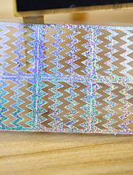 5sheets Sliver Metallic Design Nail Art Decal Hollow Sticker 3D Decal Manicure Decoration Accessories STZ-K10