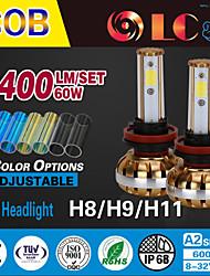 liancheng® 60w 6400lm 9 ~ 32V hohe Helligkeit cob LED-Scheinwerfer-Kit-H8 / H9 / H11 für Auto, Off-Road, utv, atv