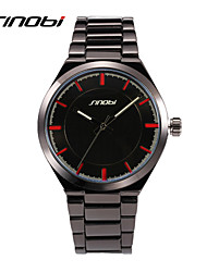 SINOBI® Brand Men Business Quartz Watches Waterproof Tungsten Round Surface Malees Fashion Designer Watch Wrist Watch Cool Watch Unique Watch