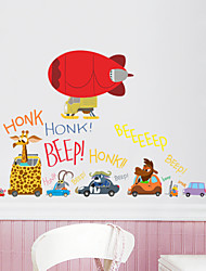 Wall Stickers Wall Decals Style Crazy Animal City Waterproof Removable PVC Wall Stickers