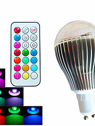 1 pcs SchöneColors GU10 9W 3High Power LED 500LM Dimmable/Remote-Controlled/Decorative LED RGB Globe Bulbs AC100-240V