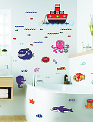 New Undersea World Children's Room And Bathroom Decoration Stickers Waterproof Removable