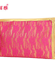 Makeup Storage Cosmetic Bag / Makeup Storage PU Lace Quadrate 23x7x15cm Black / Blue / Red / Purple / White