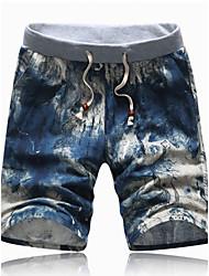 Men's Shorts , Casual / Sport Print Cotton / Acrylic K145