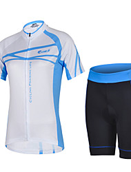 CHEJI Breathable Bike Clothing Bicycle Wear Riding Short Sleeve Team Cycling Uniforms Shorts Cycling Jerseys