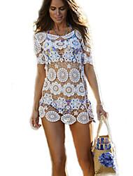 Femme Sans Armature Soutien-gorge Sans Rembourrage Licou Vêtement couvrant Franges Couleur Pleine Crochet,Dentelle Solide