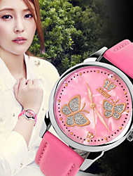 SKMEI® Women's Leather Band Butterfly Case Japanese Quartz 30M Water Resistant Fashion Watch Cool Watches Unique Watches
