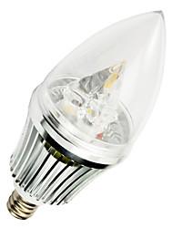 5W E12 Luzes de LED em Vela T 3 SMD 400-500 lm Branco Quente AC 220-240 V 1 pç