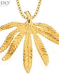 мода листья кулон мужчины ювелирные изделия золото 18k покрыло ожерелья цепи& подвески старинные ювелирные изделия женщин подарки