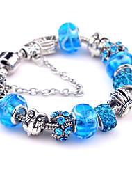 Bracelet Charmes pour Bracelets Bracelets Vintage Alliage Soirée Quotidien Décontracté Regalos de Navidad Bijoux Cadeau Bleu,1pc