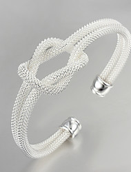 Lucky Doll Women's All Matching Silver Plated Geometric Bracelet