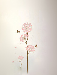 Silk Flower Background Wall Stickers