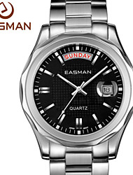 EASMAN Brand Authentic Mens Classic Black Date Day Show Business Style Luxury Watches Best Watch for Men