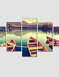 Modern 5 Panel Printed Painting Landscape Painting On The Wall Pictures Canvas Art  For Living Room No Frame
