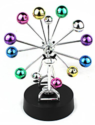 Colorful Balls Rotating Ferris Wheel Perpetual Motion Desk Craft Home Decoration Ornament 4 x AA