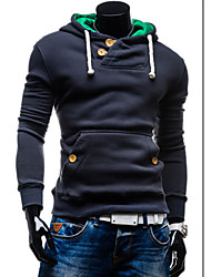 Men's Long Sleeve Hoodie & Sweatshirt,Cotton Pure