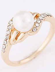 Women's New Fashion Elegant Sweet Simple Pearl Ring