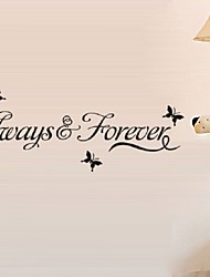 Always Forever Wall Sticker Quote Decal Removable Sticker Decor Vinyl Art Quotes Home Decor Stickers