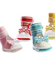 Cães Sapatos e Botas Da Moda Vermelho / Azul / Rosa / Amarelo Primavera/Outono Pele PUCão Sapatos