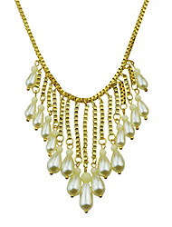 Gold Plated Imitation Latest Design Pearl Necklace