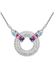 Austria círculo de cristal collar colgante de la forma, joyería fina