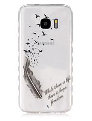 Pour Samsung Galaxy Coque Transparente Coque Coque Arrière Coque Plume PUT pour Samsung S7 S6 edge S6 S5 Mini S5 S4 Mini S4 S3 Mini S3 S2