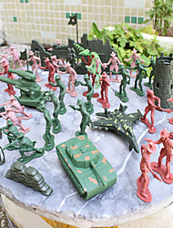 92pcs Soldier Action Figures Set Modeling Tanks, Artillery, Aircraft, Towers, Trees, Sandbags, Bunkers, Fences