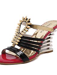 Women's Shoes  Wedge Heel Wedges / Open Toe Sandals Casual Black