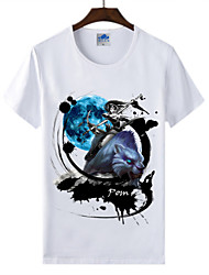 Cotton Lycra Men's T-shirt/World of Warcraft Wow Ink Series 1Pc Priestess