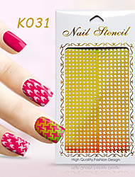 New Nail Art Hollow Stickers  Flower  Design Geometric Shape  Nail Beauty K031-040