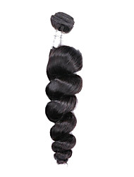 "1 Pcs/Lot 8""-26"" Brazilian Virgin Hair Loose Wave Black Color Unprocessed Brazilian Hair Weaves"