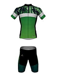 MYKING Men's Cycling Bike Short Sleeve Clothing Set Bicycle Wear Suit Jersey and Shorts Norway Forest