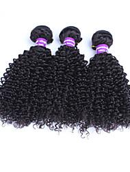 brasileiros excêntricas encaracolados virgem do cabelo 3 pacotes com fecho de cabelo humano cabelo virgem brasileiro tecer com fechamento