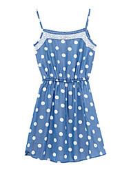Meters/bonwe Women's Strap Sleeveless Knee-length Dress-233933
