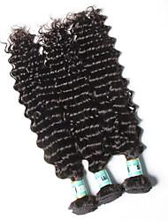 Tissages de cheveux humains Cheveux Péruviens Ondulation profonde 18 Mois 3 Pièces tissages de cheveux