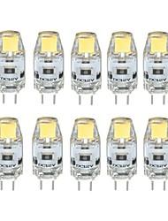 2W G4 Двухштырьковые LED лампы T 1 COB 170 lm Тёплый белый / Холодный белый Регулируемая DC 12 V 10 шт.