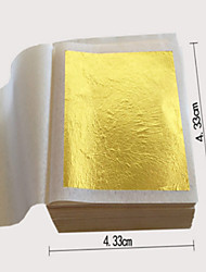 10pcs 24K 4.3CM X 4.3CM Genuine Edible Gold Foil - Gilding Goldleaf Sheet For Facial Beauty Mask Spa Food Grade 99% Gold