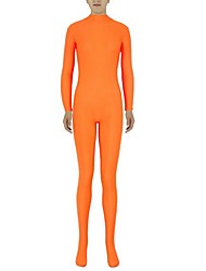 Zentai Suits Ninja Zentai Cosplay Costumes Orange Solid Leotard/Onesie / Zentai Lycra / Spandex Unisex Halloween / Christmas