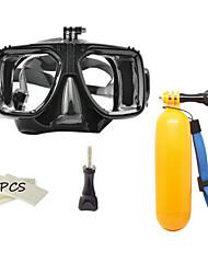 Подводное плавание Пакеты Два окна Унисекс Стекловолокно / силиконовый Черный-ABSEE