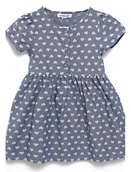 Girl's Dress,Cotton Summer Gray