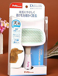 Pet Dog  Hair Grooming Slicker Rake Brush Comb Special Tip 360 degree Rotation S